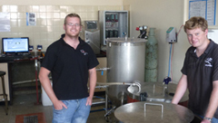 Antony Higginson and Graham Bathgate with the Wits Micro Brewery.